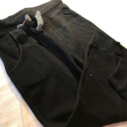 5-6 Year Simple Black Joggers.